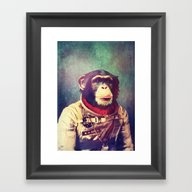 Framed Art Print featuring Above And Beyond by Rubbishmonkey