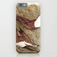 iPhone & iPod Case featuring La Ruse du renard (The Sneaky Red Fox) by emychaoschildren