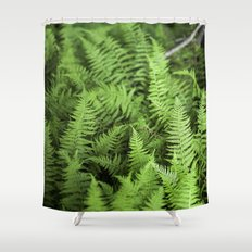 Enchanted Forest of Ferns Shower Curtain