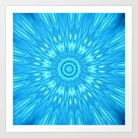 turquoise Art Prints featuring turquoisE Mandala Expolosion by 2sweet4words Designs