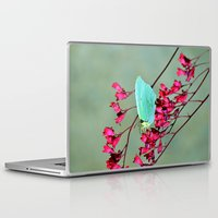 butterfly Laptop & iPad Skins featuring butterfly by  Agostino Lo Coco