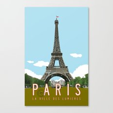 Paris 2 Travel Poster Canvas Print