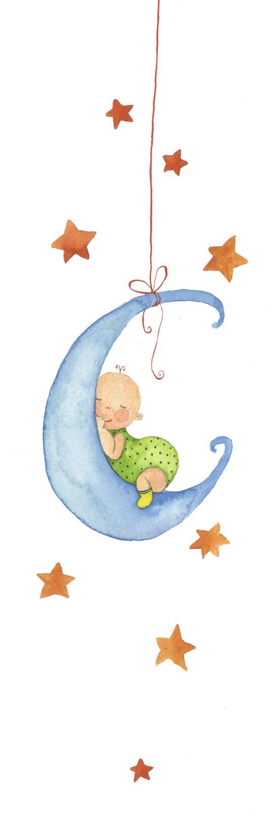 Baby moon Canvas Print