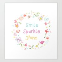Smile, Sparkle, Shine Art Print