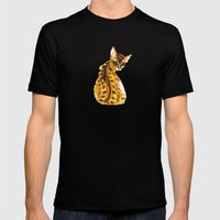 bengal kitten Mens Fitted Tee Black SMALL