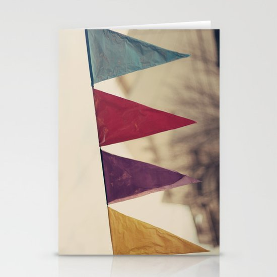 Flags (Vintage and retro photopgraphy) Stationery Card