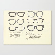 Hipsters Wear Frames, illustrated Canvas Print