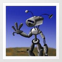 Mr Robo Art Print