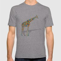 Technicolor Giraffe Mens Fitted Tee Athletic Grey SMALL