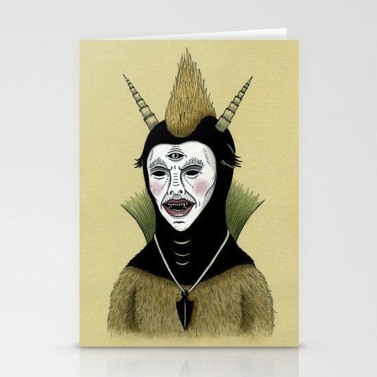 Creature with Black Amulet  Stationery Card