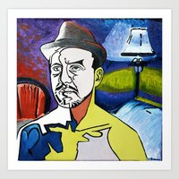Man With Hat Art Print
