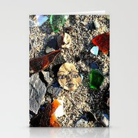 Lady in the Sand Stationery Cards