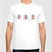 Painted Beetles Mens Fitted Tee White SMALL
