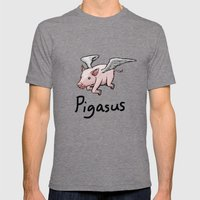 Pigasus Mens Fitted Tee Tri-Grey SMALL