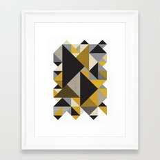 Geometric organic Framed Art Print