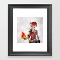 Framed Art Print featuring Lilith by Melissa Smith
