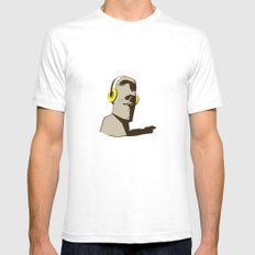 Stone White SMALL Mens Fitted Tee
