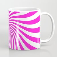 Swirl (Hot Magenta/White) Mug