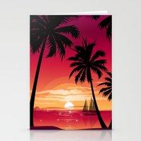 Sunset Six Stationery Cards