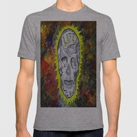 NEON SKULL Mens Fitted Tee Athletic Grey SMALL