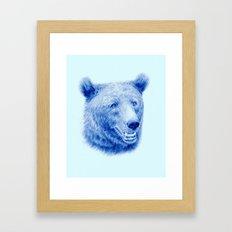 Brown bear is blue Framed Art Print