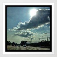 Admiring the clouds. Art Print