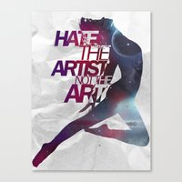 Hate On Hate  Canvas Print