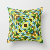Leaves, trees and blu skies Throw Pillow