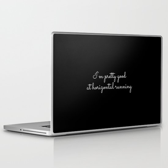 horizontal running #1 Laptop & iPad Skin