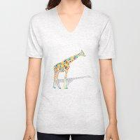 Technicolor Giraffe Unisex V-Neck