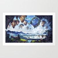 Spaceship Enters Fantasy… Art Print