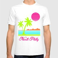 Tropical North Philly Mens Fitted Tee White SMALL