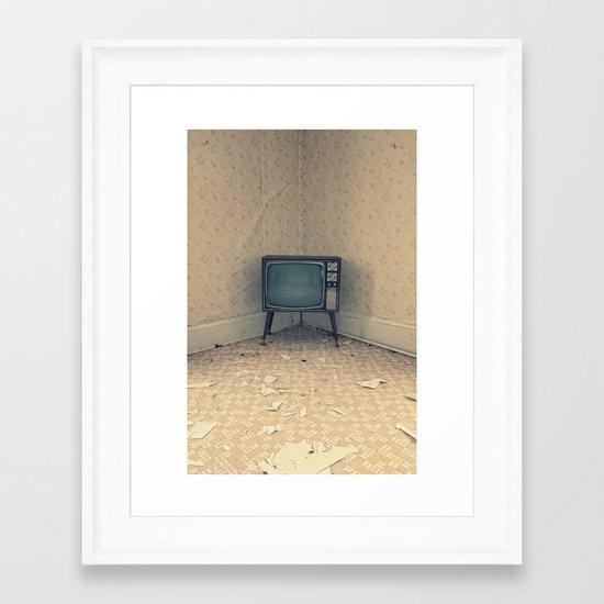 Television Set Framed Art Print