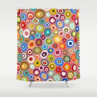 freckle spot blush Shower Curtain