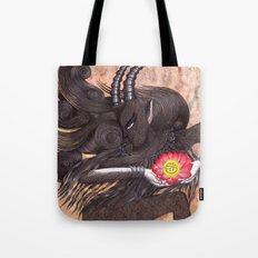 Capricorn, The Ambitious Goat: Dec 22 - Jan 20 / Original Gouache On Paper Tote Bag