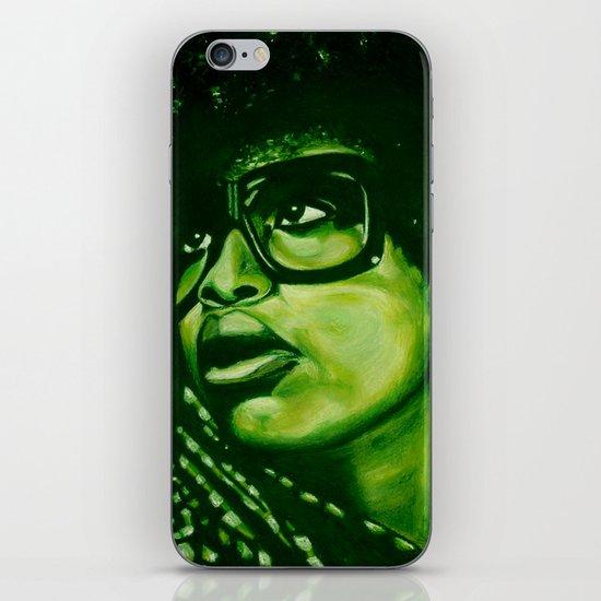 badu?!-green iPhone & iPod Skin