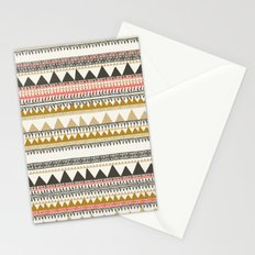 Mountain triangle pattern Stationery Cards