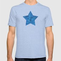 Turquoise Blue Doodles Mens Fitted Tee Tri-Blue SMALL
