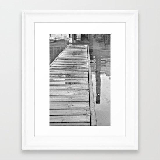 Down On The Dock Framed Art Print