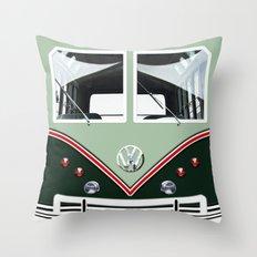 VW Volkswagen Minibus Throw Pillow