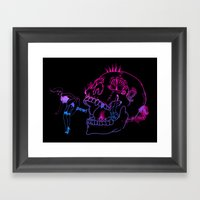 Candy Skull Peek Framed Art Print