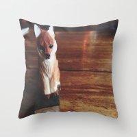 Doorstop Red Fox Throw Pillow