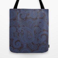 Paisley Platinum Tote Bag