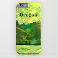 iPhone Cases featuring Oregon Map by Roger Wedegis