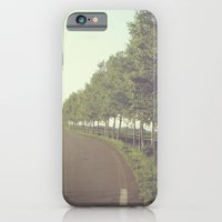 iPhone & iPod Case featuring roadside trees by dv7600