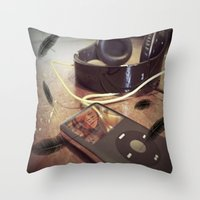 Free Falling Throw Pillow