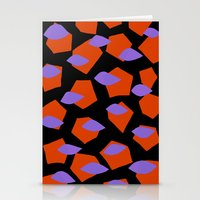 Orange and black Stationery Cards