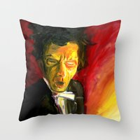 Mr. Waits Throw Pillow