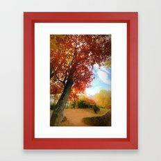 Autumn Tree Scene Framed Art Print