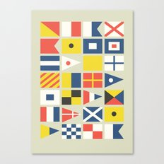 Geometric Nautical Flag … Canvas Print